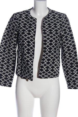 Mango Jerseyblazer weiß-schwarz Allover-Druck Casual-Look