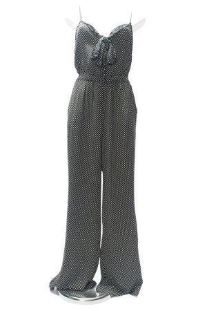 Mango Jumpsuit schwarz-weiß Punktemuster Casual-Look