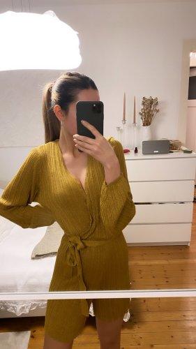 Mango Jumpsuit Einteiler Playsuit Knit Zara gold