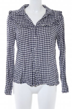 Mango Checked Blouse white-dark blue check pattern casual look