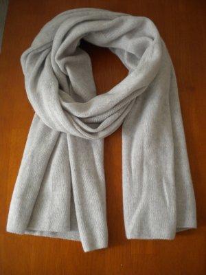 Mango Écharpe en cachemire gris clair cachemire