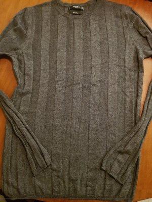 Mango Pull tricoté gris foncé-gris anthracite
