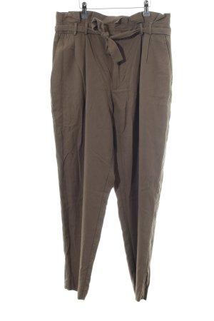 Mango Pantalon kaki brun style décontracté