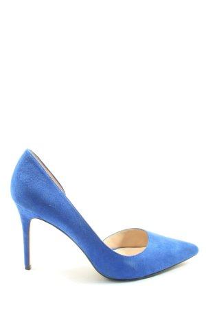 Mango Klassische Pumps blau Business-Look