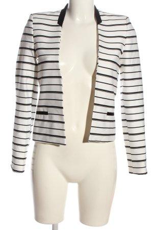 Mango Klassischer Blazer weiß-schwarz Streifenmuster Casual-Look