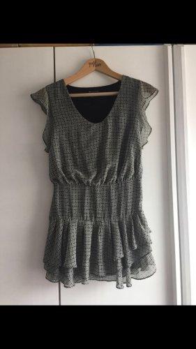Mango Mini-jurk groen-grijs-zwart Polyester