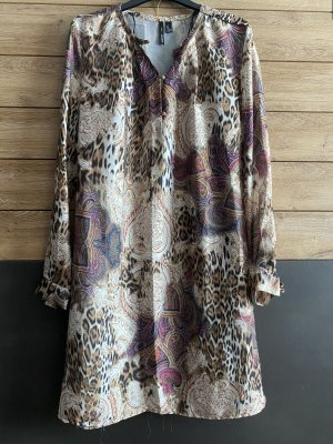 Mango Suit Tunic Dress brown-purple