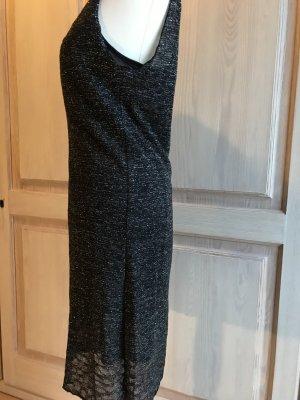 Mango Kleid Abendkleid mit silbernen Glitzer Cocktailkleid
