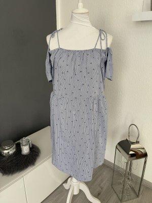 Mango Sukienka na jedno ramię błękitny