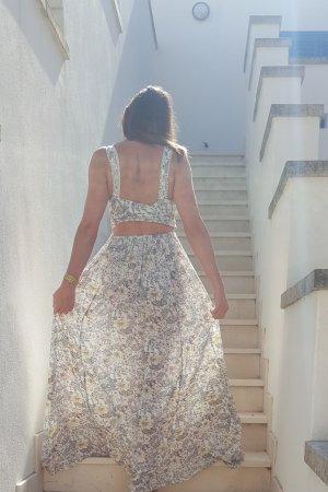 Mango Maxi-jurk wit-grijs