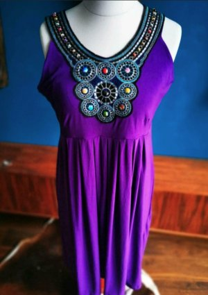 Mango Jersey Dress dark violet