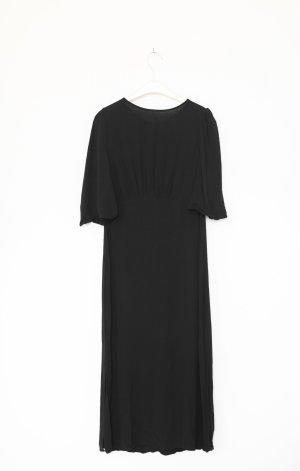 Mango Kleid Empire schwarz Vintage Look Maxi Midi Dress Gr. XS