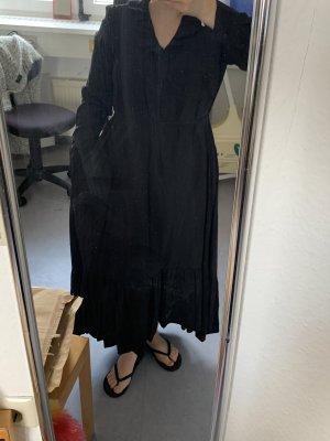 Mango Vestido de tela de jersey negro