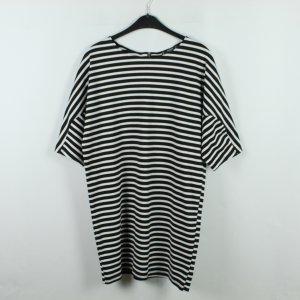 MANGO Kleid Gr. M  schwarz weiß gestreift (20/01/068)