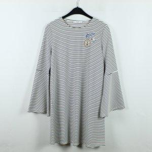 MANGO Kleid Gr. M weiß schwarz gestreift (20/01/061)