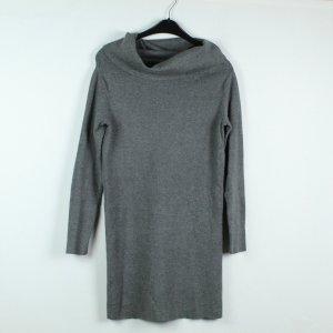 Mango Vestido de manga corta gris