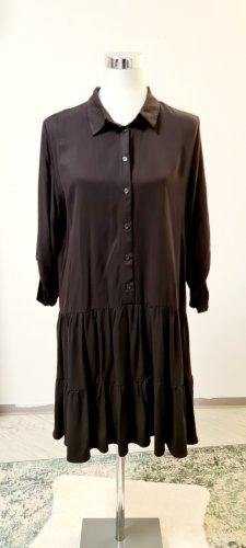 Mango Abito blusa camicia nero Viscosa