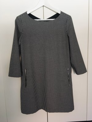 Mango Kleid, kurz, Vichy Karo, schwarz-weiß, Gr. S