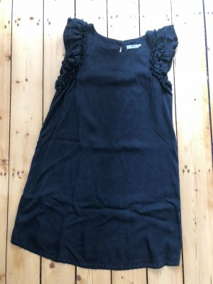 Mango Kleid Lyocell schwarz Gr. L