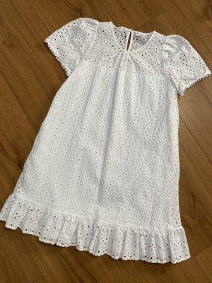 Mango Sukienka z krótkim rękawem biały