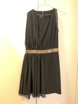 Mango Kleid mit elegantem Gold Gürtel - M