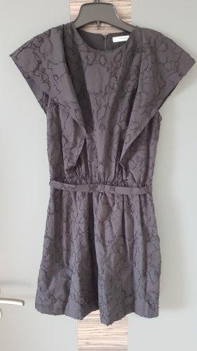 Mango Kleid mit Muster schwarz Gr.34