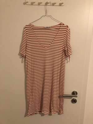 Mango Mini Dress red-white