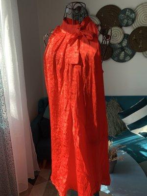 Mango Robe dos-nu rouge