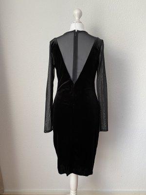 Mango Kleid Samtkleid Cocktailkleid Abendkleid Gr S schwarz