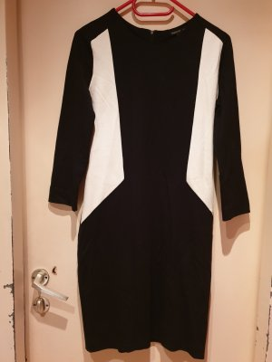 Mango Kleid | Schwarz, Weiß | Größe M