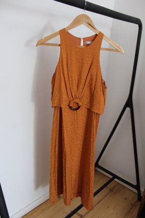 Mango Halter Dress gold orange-light orange