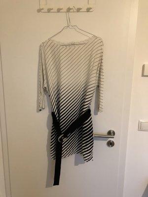 Mango Kleid,Streifenmuster,Gürtel zum taillieren