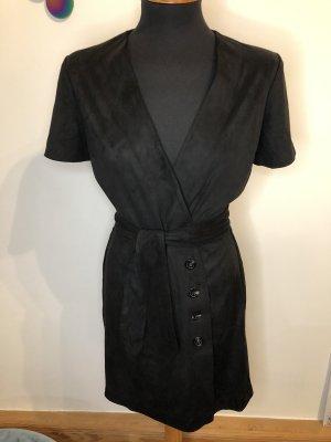 Mango ❤️ Kleid Velours schwarz Knöpfe ❤️ S 36