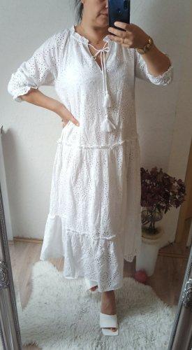 mango Kleid weiß Stickerei L 40/42 neu