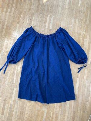 Mango Sukienka z rękawem balonowym niebieski