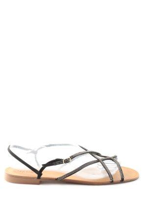 Mango Komfort-Sandalen schwarz-goldfarben Casual-Look