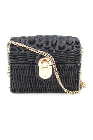 Mango Basket Bag black-gold-colored elegant