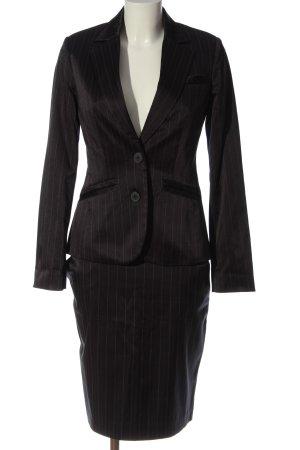 Mango Kostüm schwarz-weiß Streifenmuster Business-Look