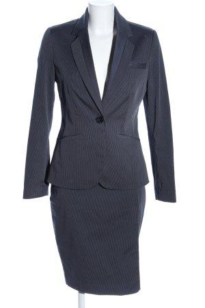 Mango Traje para mujer azul-gris claro estampado a rayas estilo «business»
