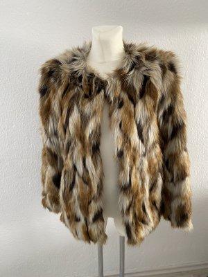 Mango Kunst Fell jacke Fake Fur Felljacke Pelzjacke Pelz style so cute miu S Teddy 36