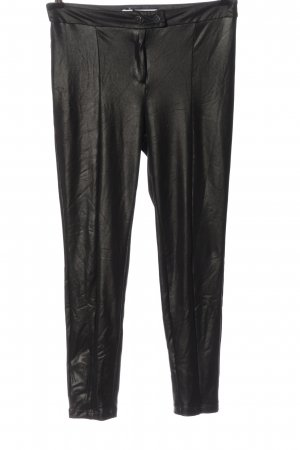 Mango Faux Leather Trousers black casual look