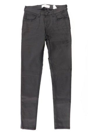 Mango Faux Leather Trousers black viscose