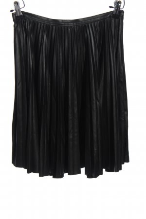 Mango Faux Leather Skirt black casual look