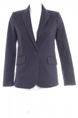 Mango Kurz-Blazer dunkelblau Punktemuster Business-Look
