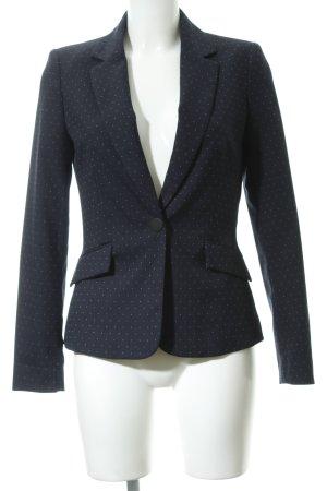 Mango Kurz-Blazer dunkelblau-weiß Punktemuster Business-Look