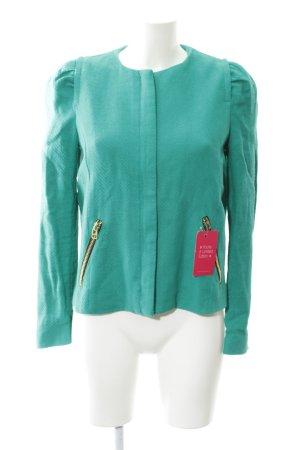 Mango Kurz-Blazer grün Casual-Look
