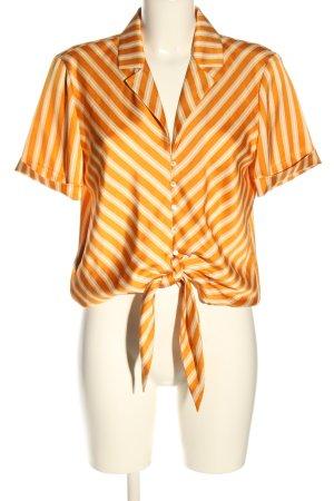Mango Blouse met korte mouwen licht Oranje-wolwit volledige print