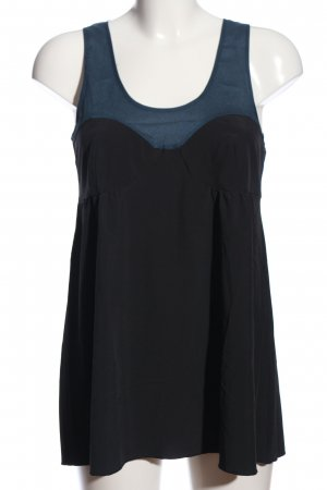 Mango Camicetta a maniche corte blu-nero stile casual