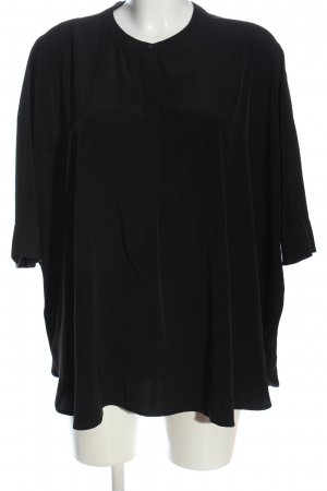 Mango Kurzarm-Bluse schwarz Casual-Look