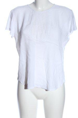 Mango Kurzarm-Bluse weiß Casual-Look